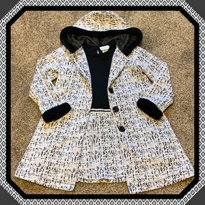 Dress with matching overcoat sz. 5